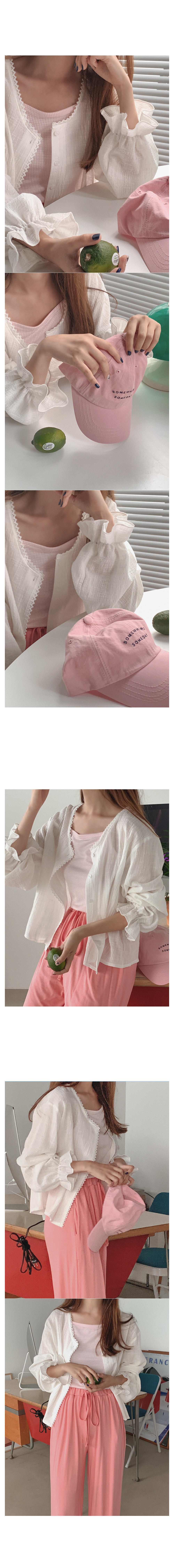 Point cotton blouse