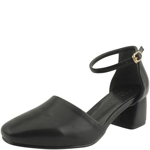 Mary Jane Square Nose Middle Heel Black