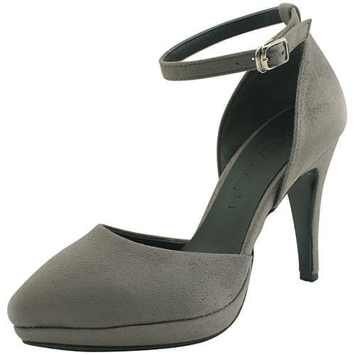 Strap Heirloom Stiletto Heel Gray