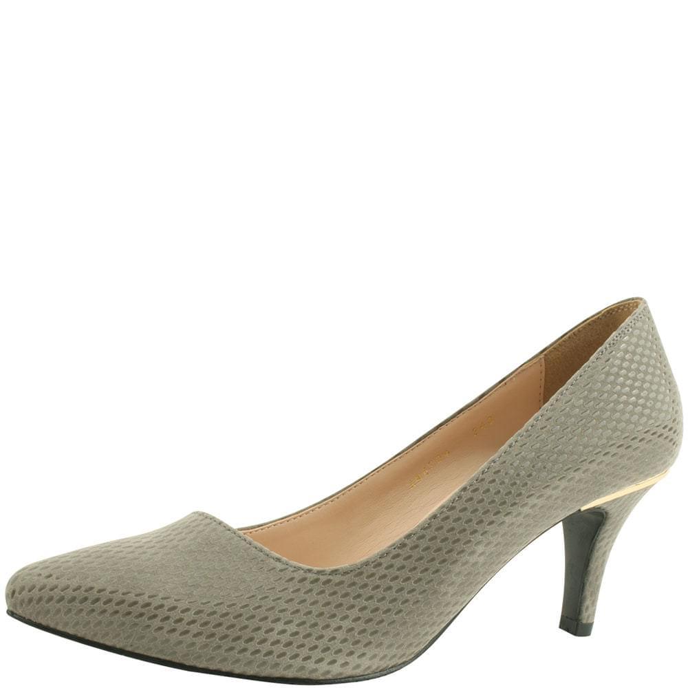Modern Python Stiletto High Heels 7cm Gray