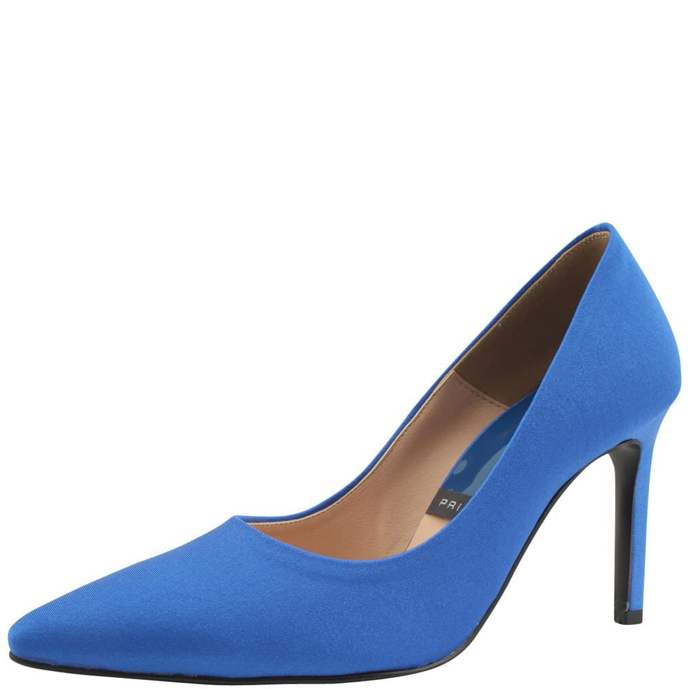 Satin Vivid Stiletto Heel 9cm Blue