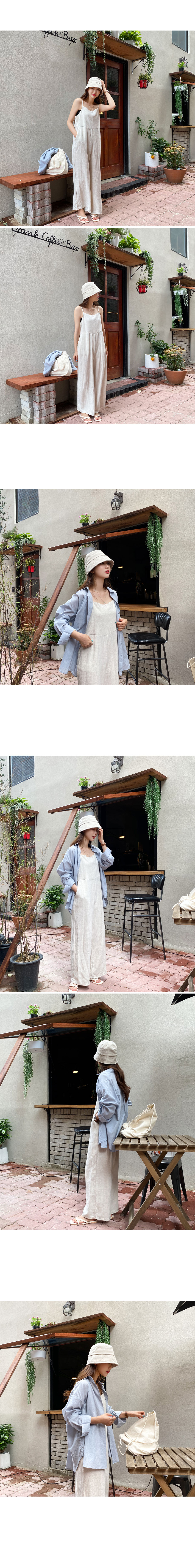 Planet linen bucket hat