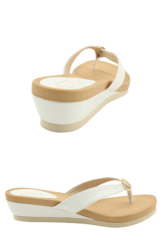 Wedge Heel Cooking Slippers 4cm White