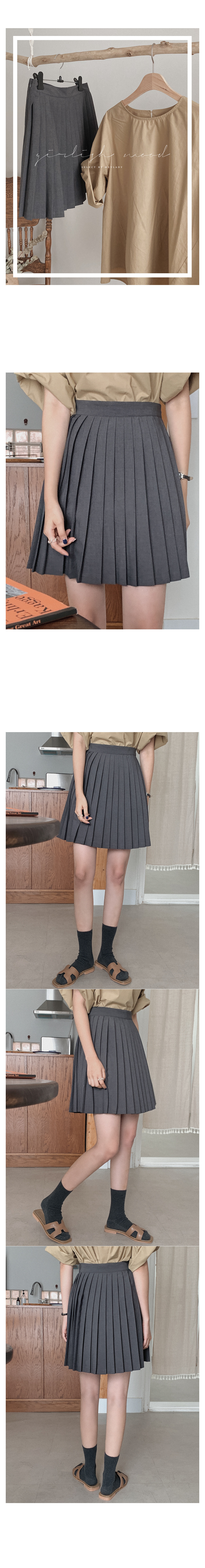 Love duck pleated skirt
