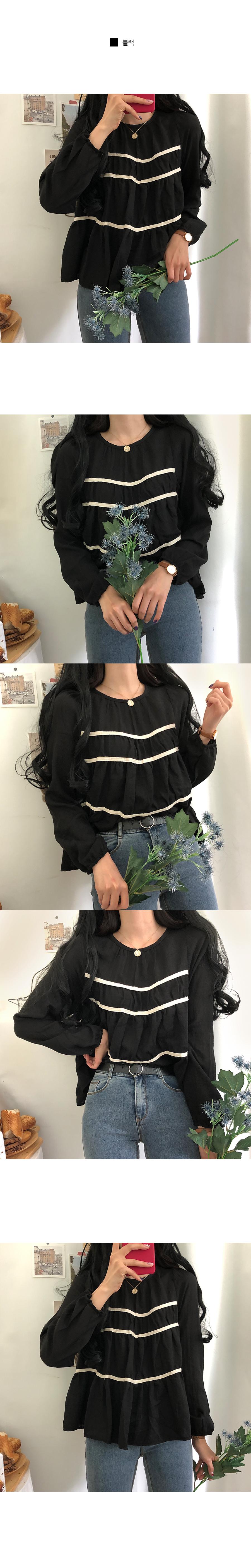 Sawa three-tier cancan blouse