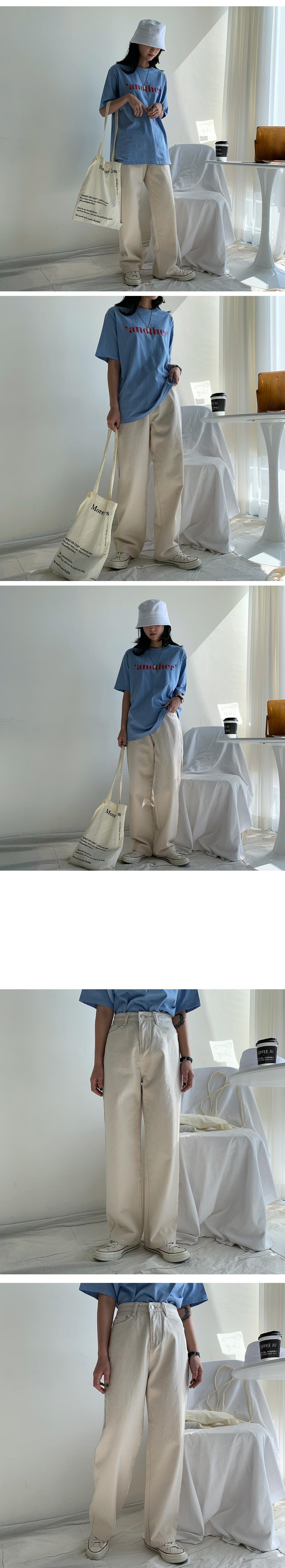 Top cotton wide pants