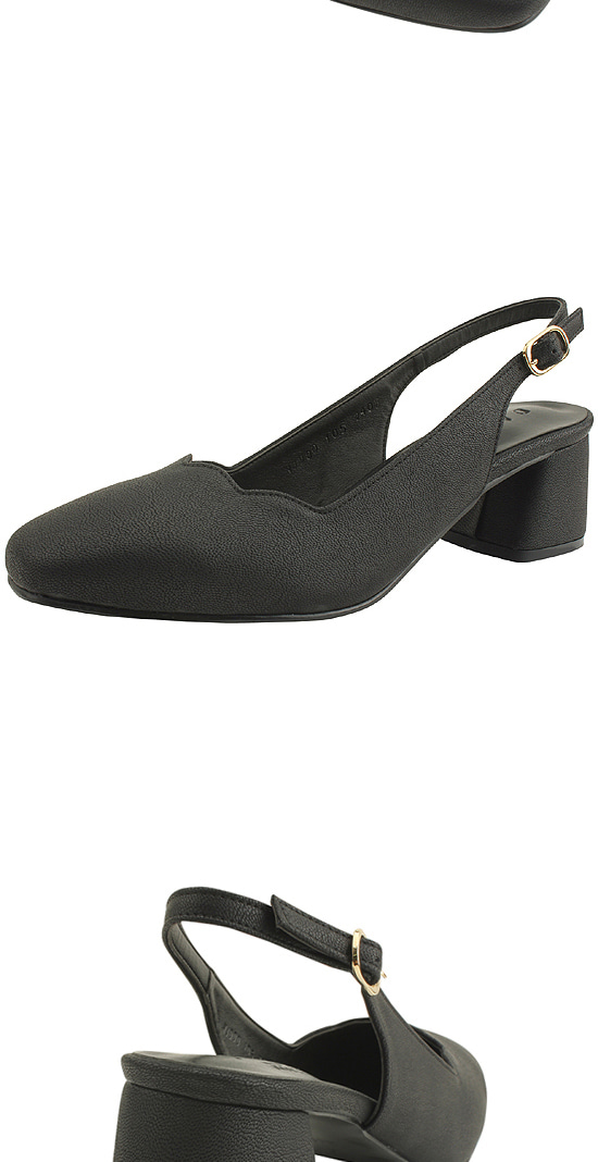 Wave Slingback Full Heel Middle Hill Matte