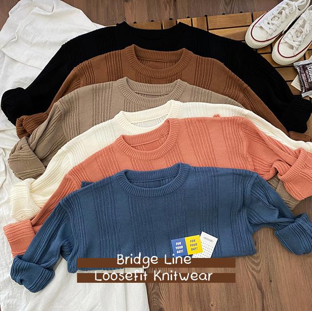 Bridge Line Loose Fit Knit