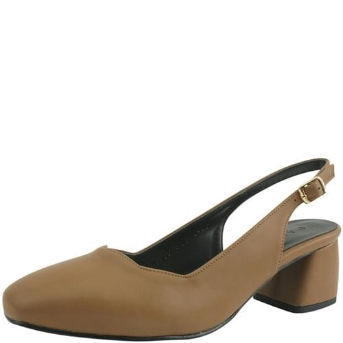 Wave Slingback Full Heel Middle Heel Brown