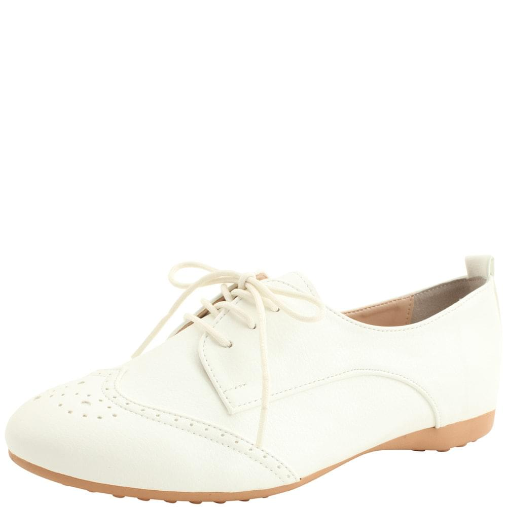 Oxford Simple Loafer Shoes White