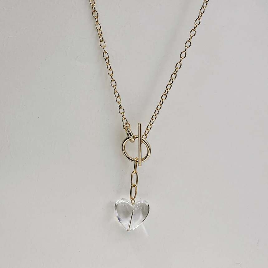 Noi Clear Heart Gold Necklace