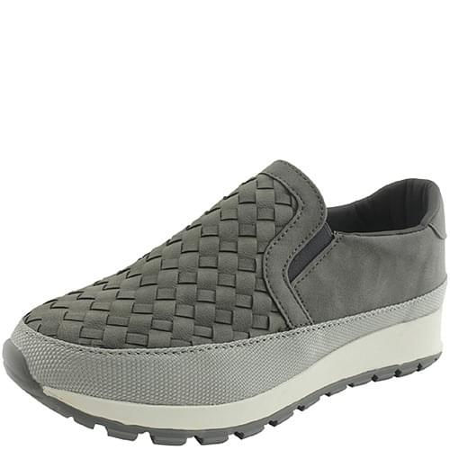Grid Two-tone Height Slip-on Gray