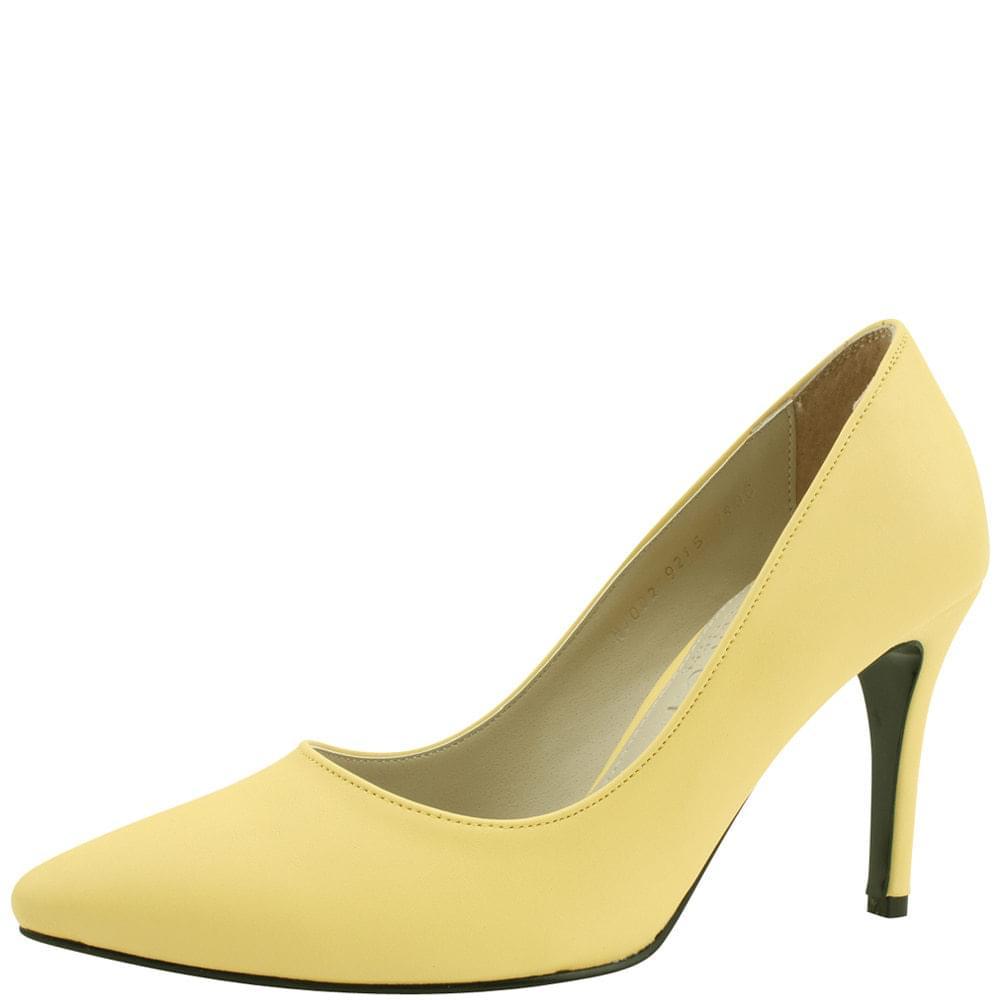 Stiletto high heel pumps 9cm yellow