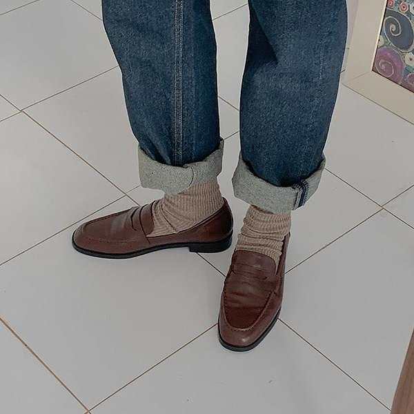 Mannish penny loafers