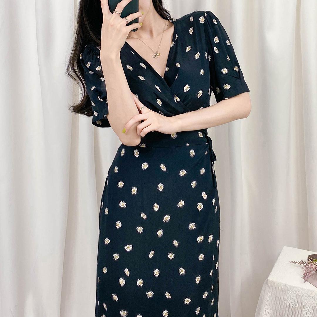 Floral Self-Tie Side Wrap Dress