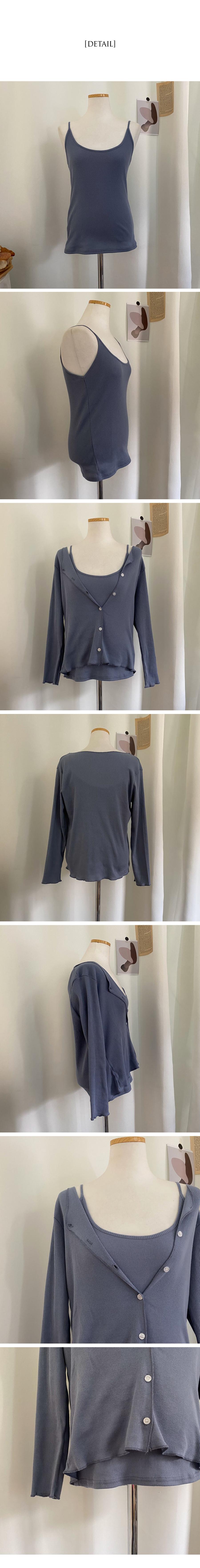 Genji Sleeveless Cardigan Set