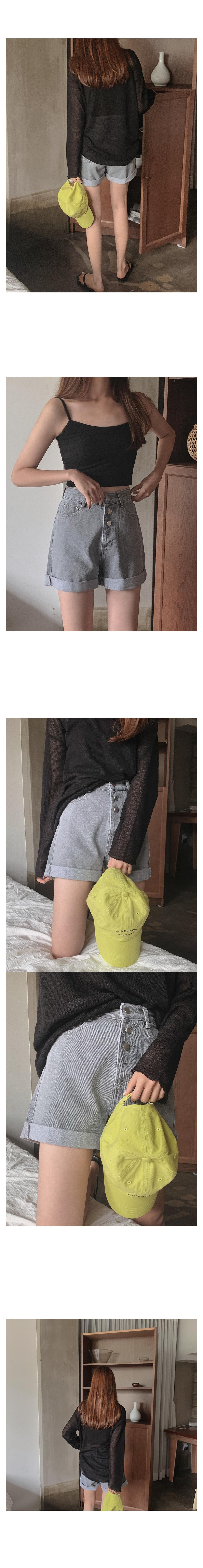 Spiral roll-up short pants