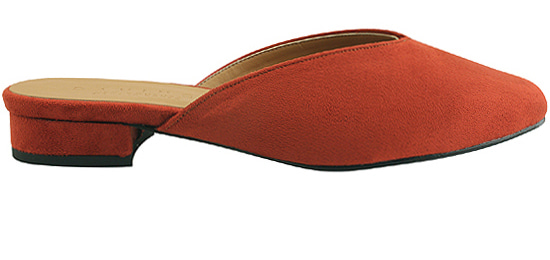 Suede Square Toe Blower Red