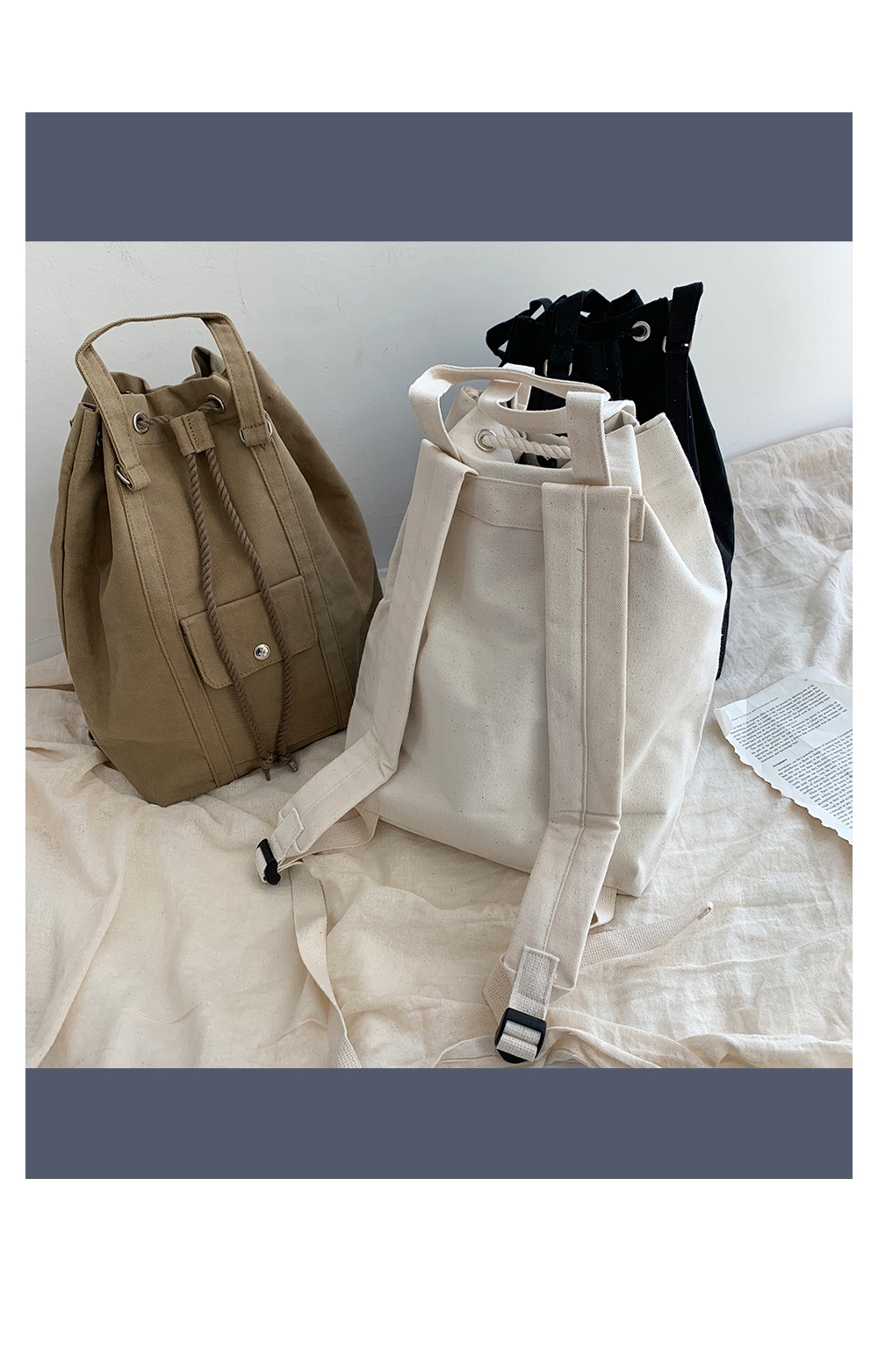 Cotton cooking backpack