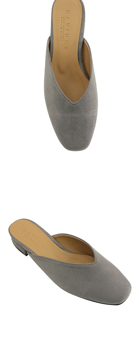 Suede Square Toe Blower Gray