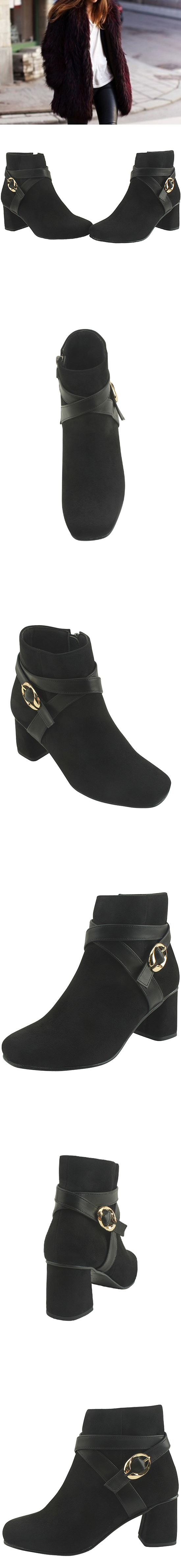 Suede X Ankle Boots