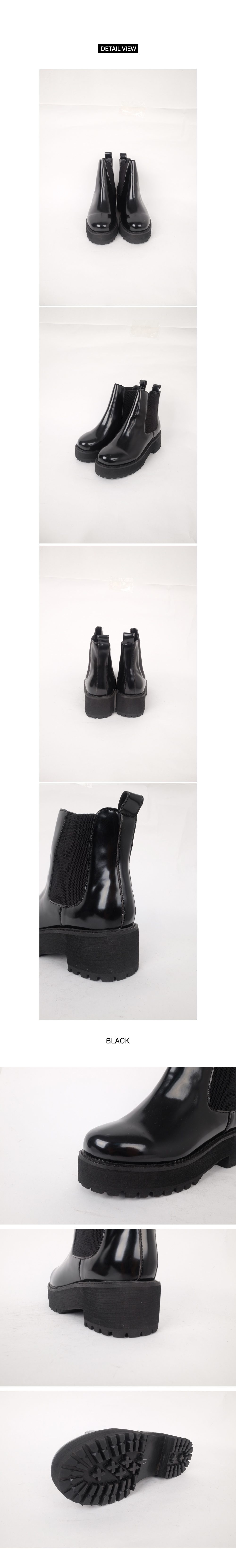 Enameled Tongue Ankle Boots