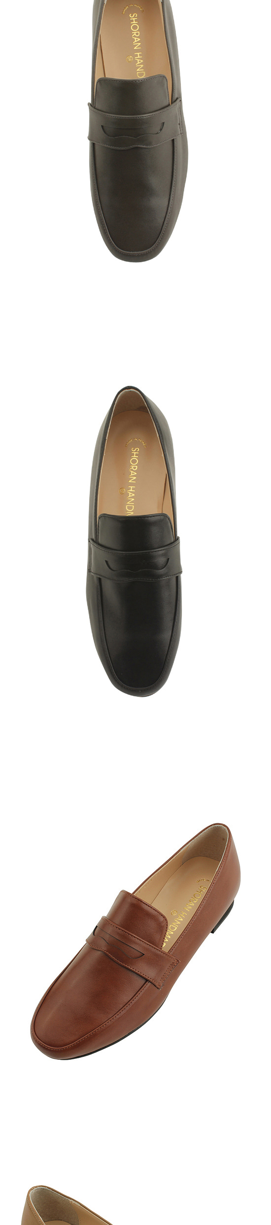 Simple classic loafers brown