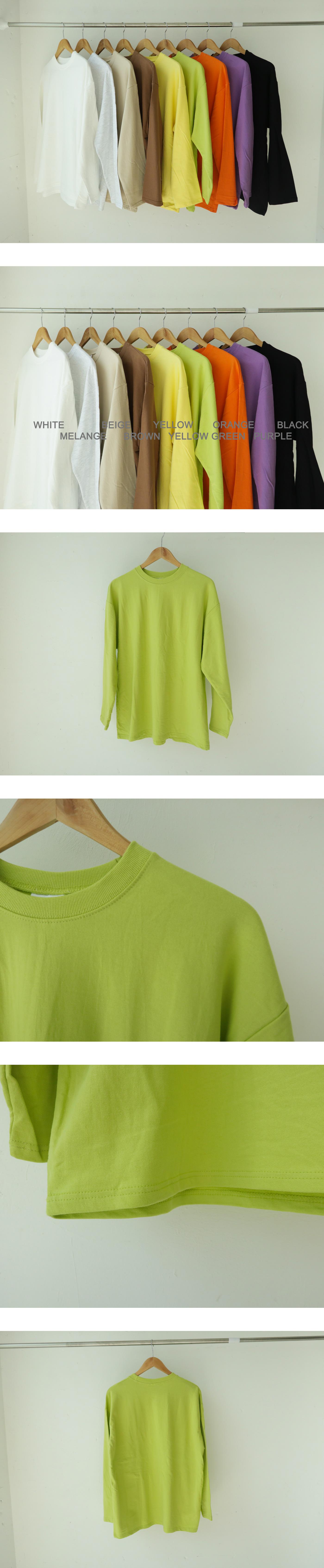 Basic color straight T-shirt