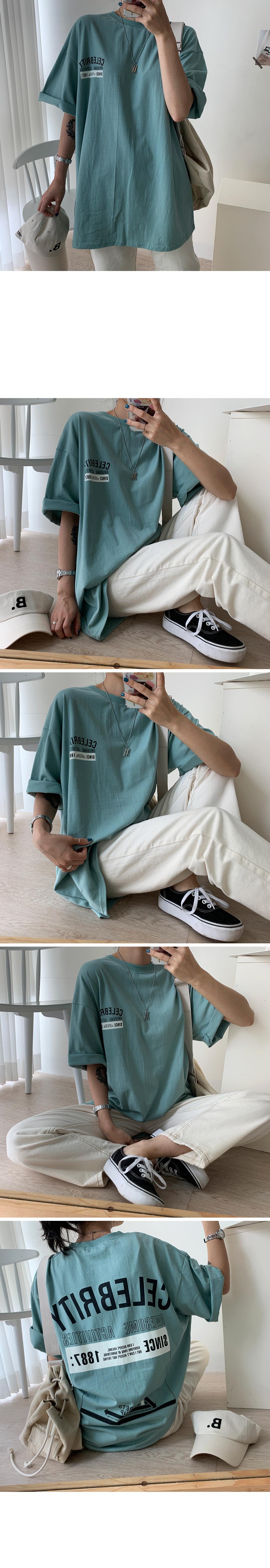 Celebrity Bag Printing Overfit Short Sleeve Tee