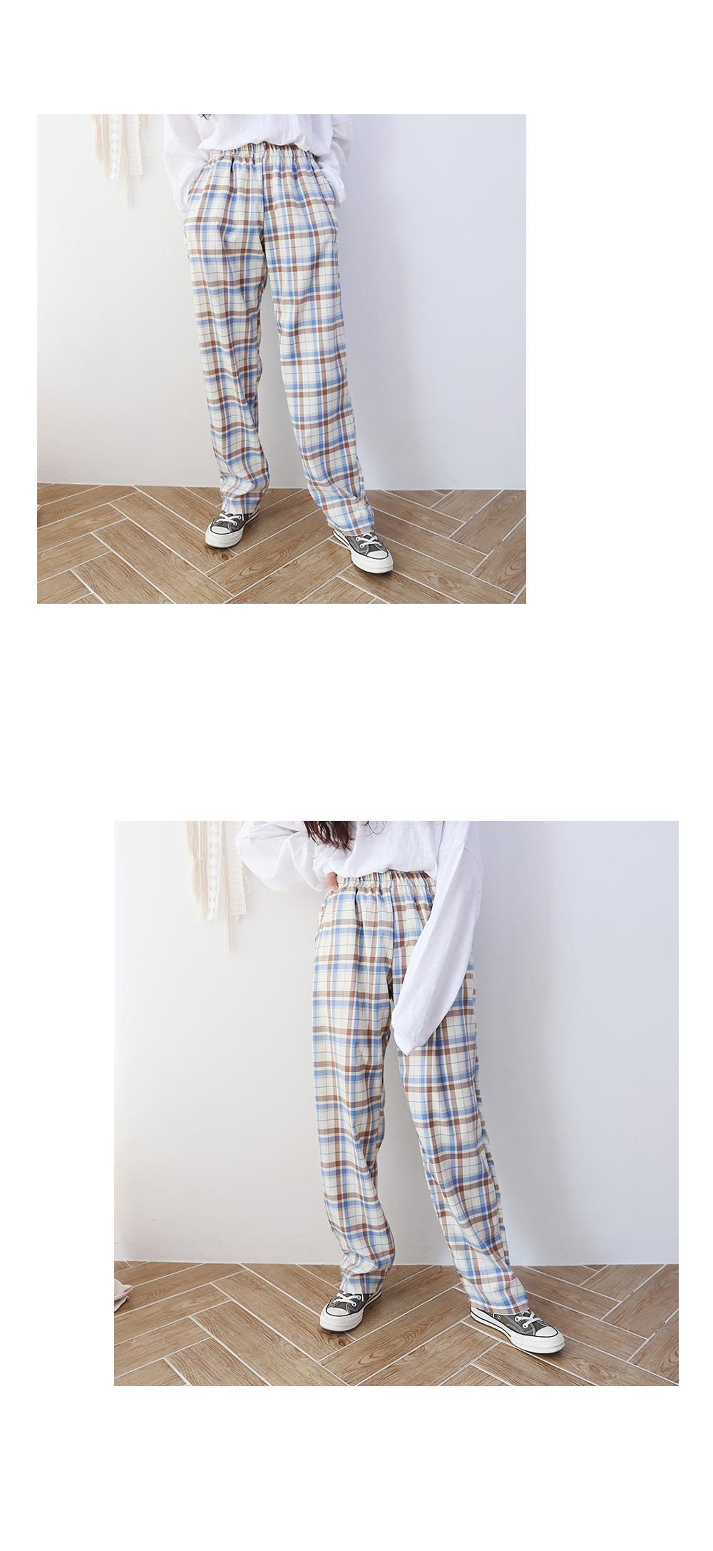 Sand Check Wide Pants (3color)