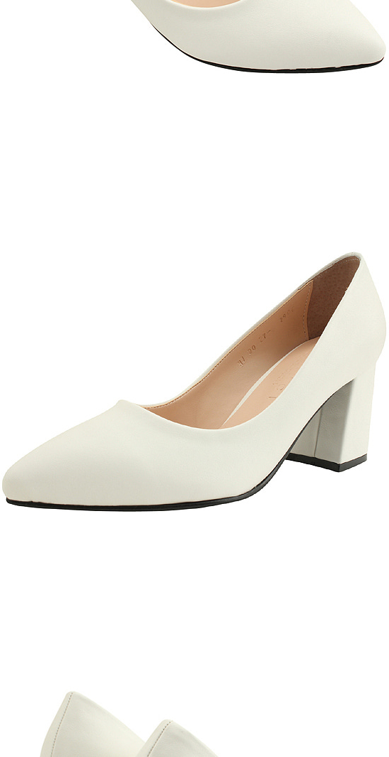 Basic Stiletto High Heel Pumps White
