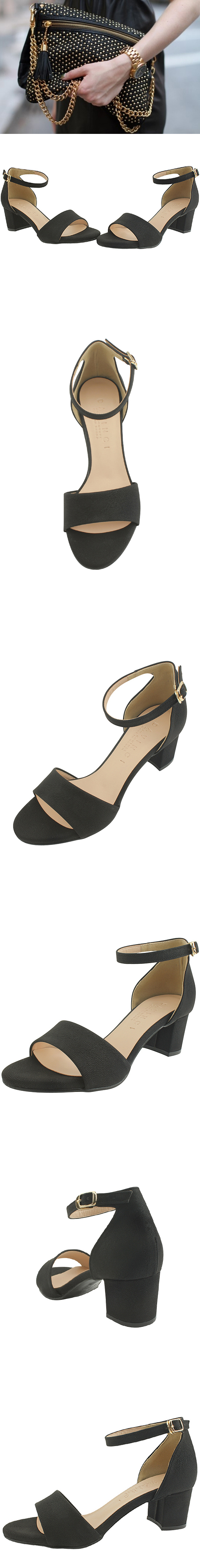 Ankle Strap Sandals Nubuck Black