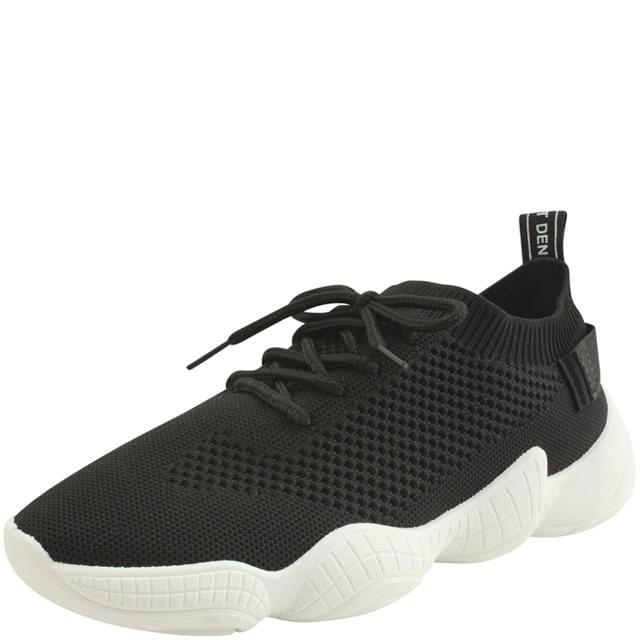 Knit Ugly Span Sneakers Black