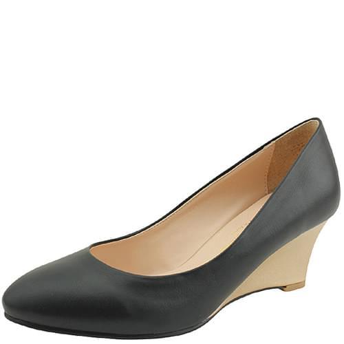 Combi wedge middle heel pumps 6cm