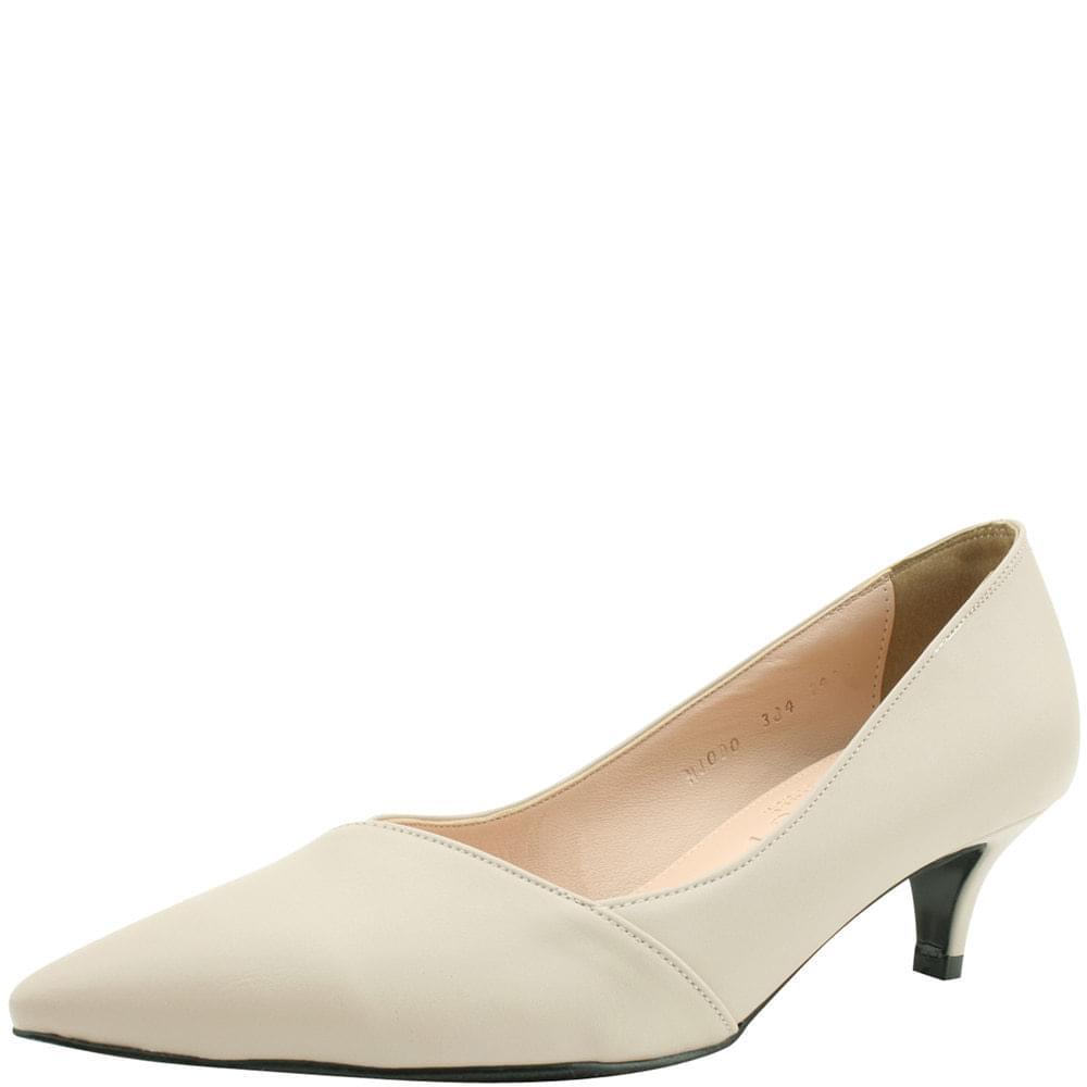 Stiletto Middle Heel Slim Shoes 5cm Beige