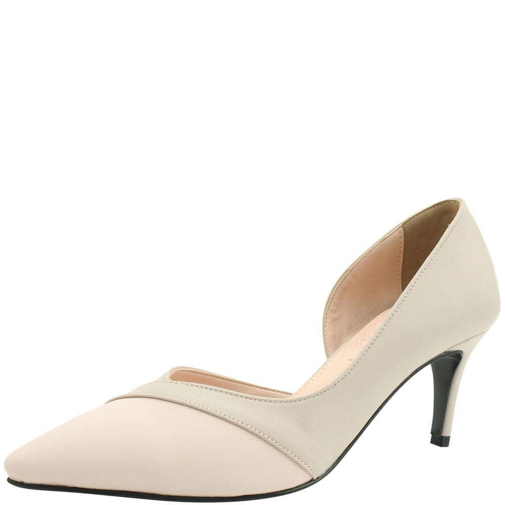 Combi Side Open Stiletto Heel 7cm Beige