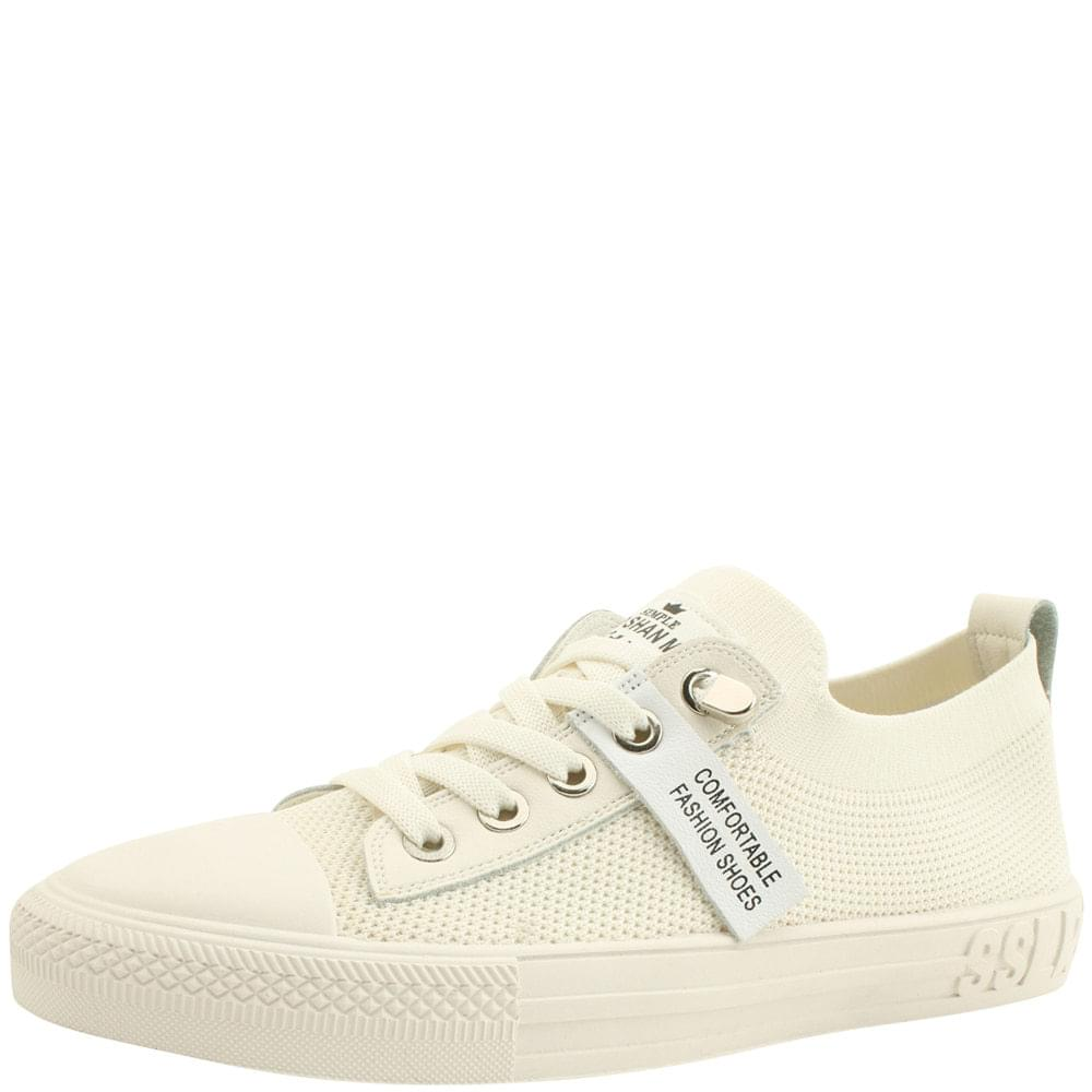 Knitted casual sneakers ivory