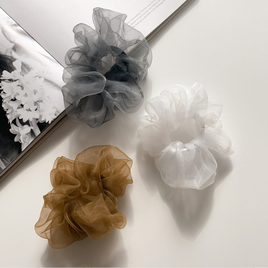 See-through chiffon giblets hair band