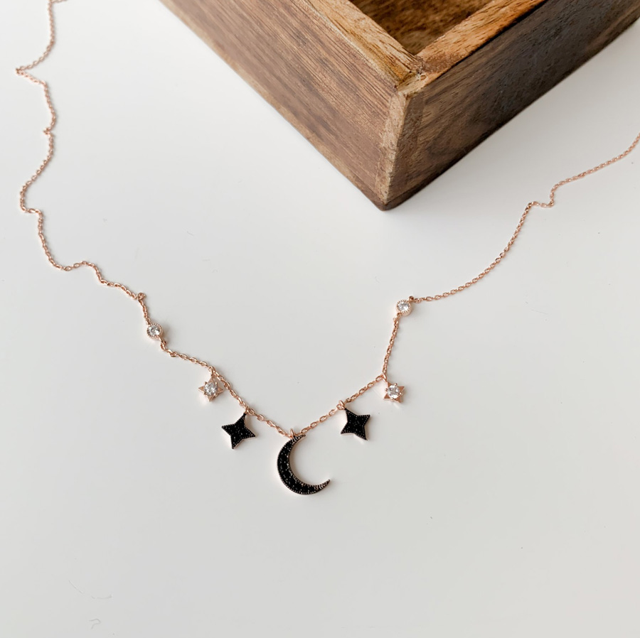 Simple monthly cubic silver925 necklace