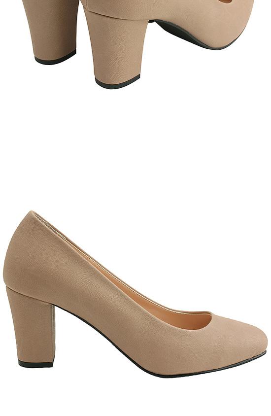 Square Toe Simple High Heel Pumps Pink