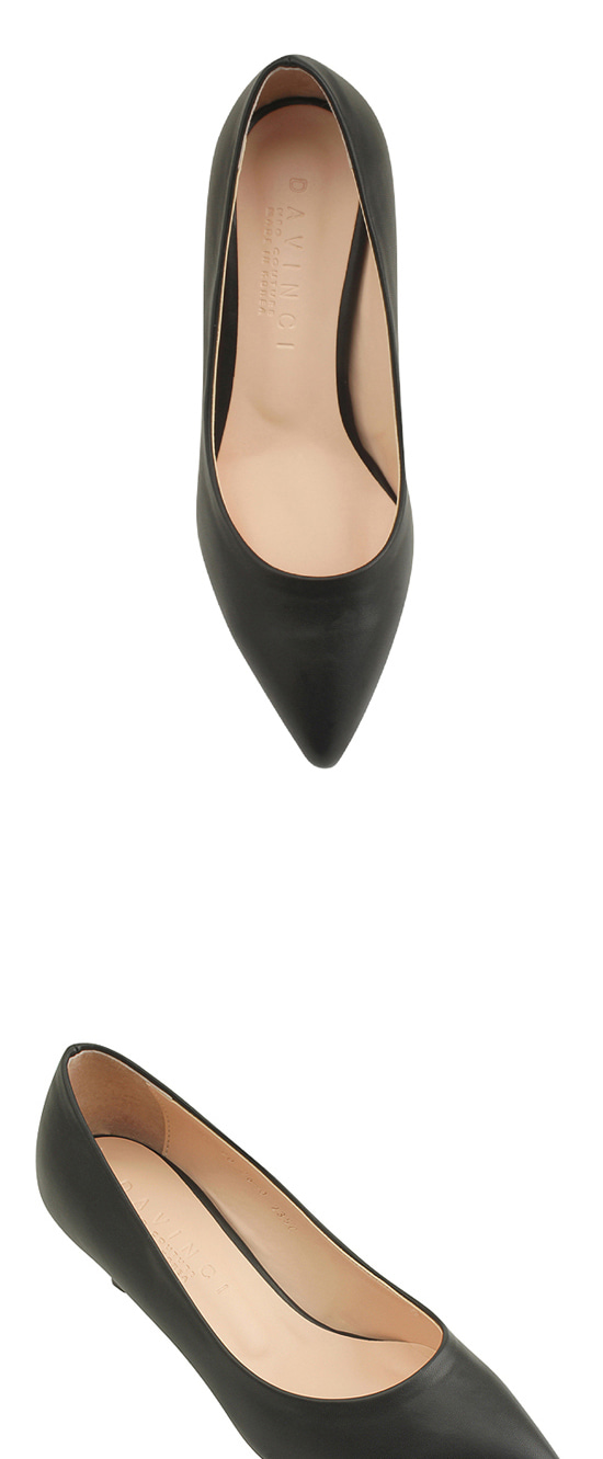 Basic Stiletto Middle Heel Pumps Black
