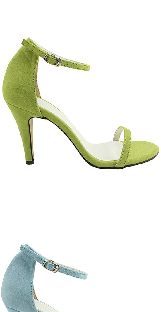 Pastel tone high heel strap sandals 9cm