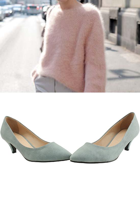 Simplicity Middle Heel Gray