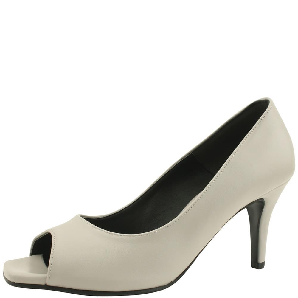Toe Open Simple High Heels 8cm Gray