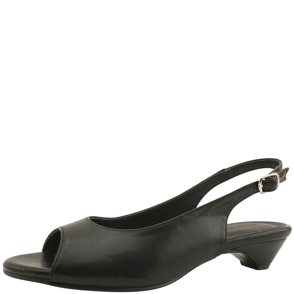Open Toe Low Heel Slingback Sandals 3cm Black