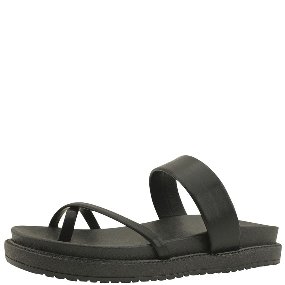 Flip-Flop Mary Jane Flat Slippers Black