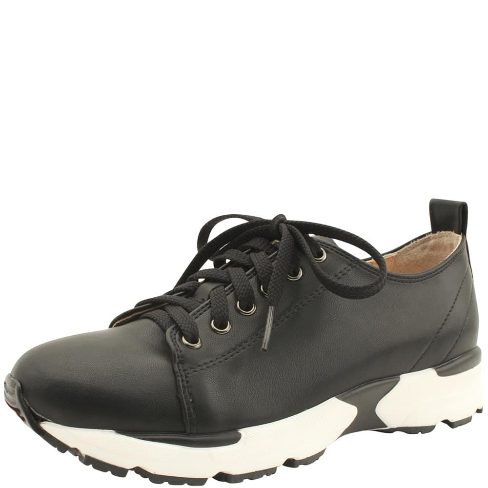 Lace-Up Height Sneakers Basic Black