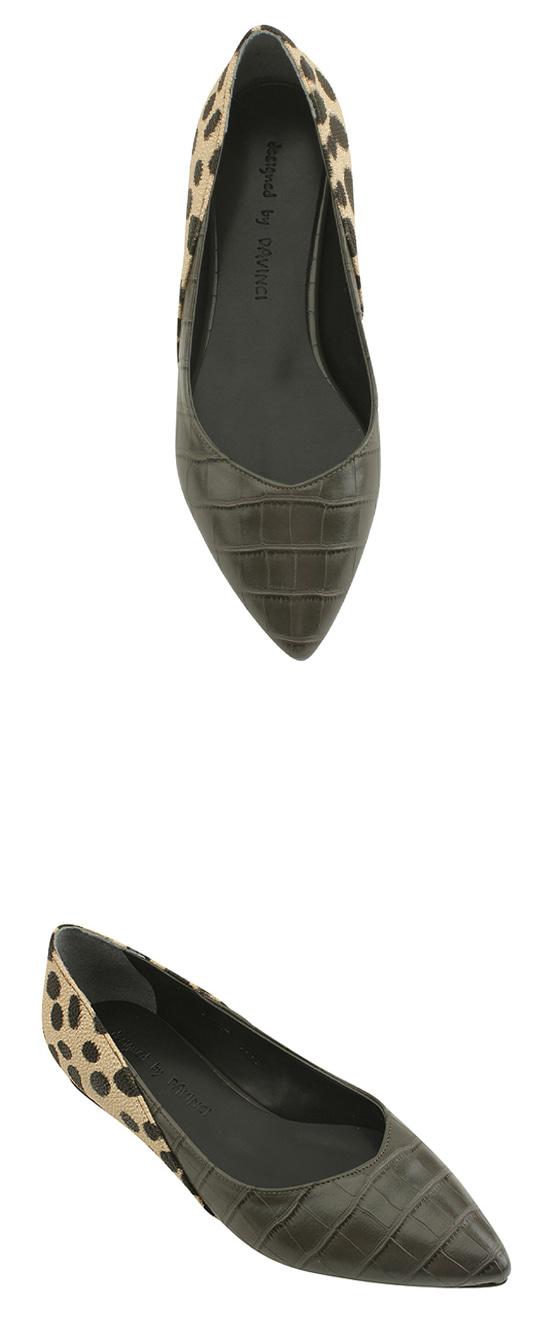 Stiletto Python Flat Pumps Gray