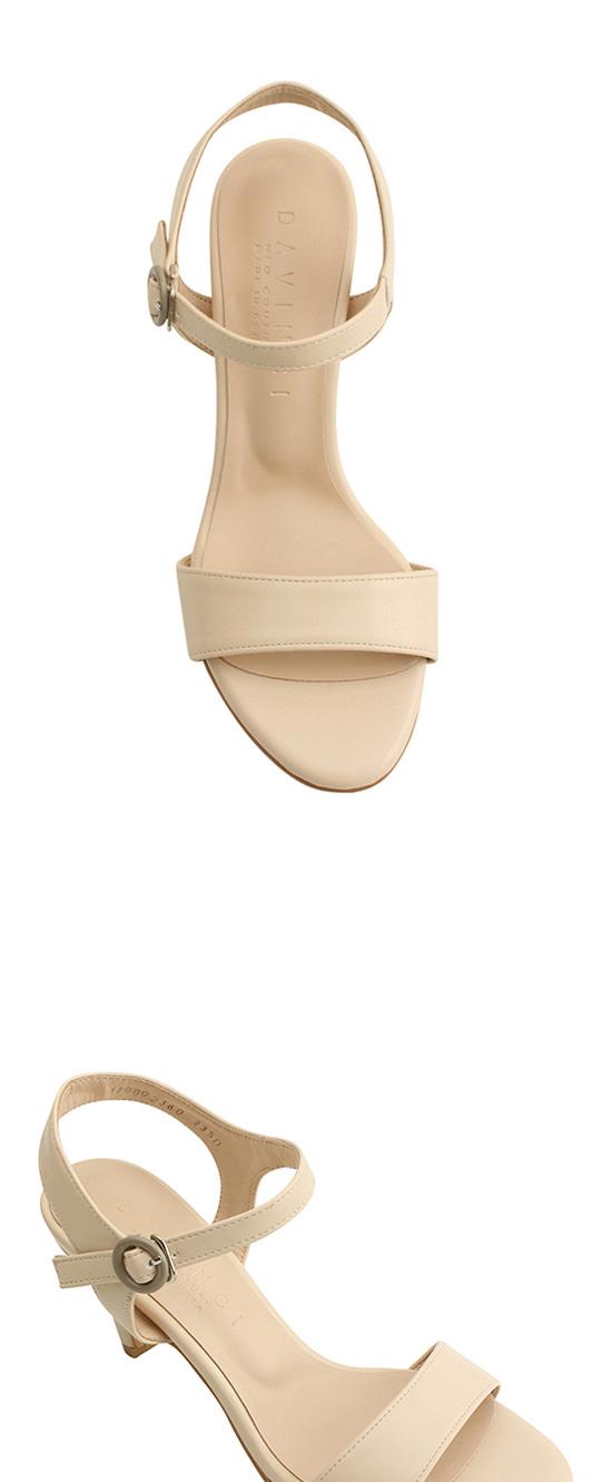 Strap High Heel Sandals 7cm Beige