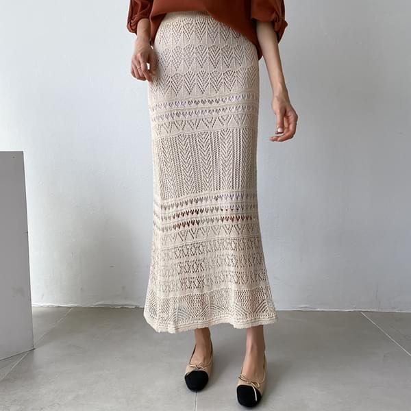 On Going Knit Lace Skirt #51256
